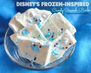 frozen inspired candy crunch bark