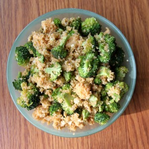 Buffalo Chicken and Broccoli Quinoa Salad