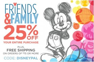 Save up to 50% at The Disney Store + Extra 25% Off Entire Purchase