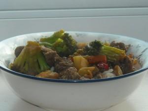 Date Night at Home Dinner for Two:  Teriyaki Steak Stir Fry (15 Minutes – 3 Ingredients)