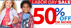Carter's: Save 50% on More on Labor Day Deals + Coupon Code