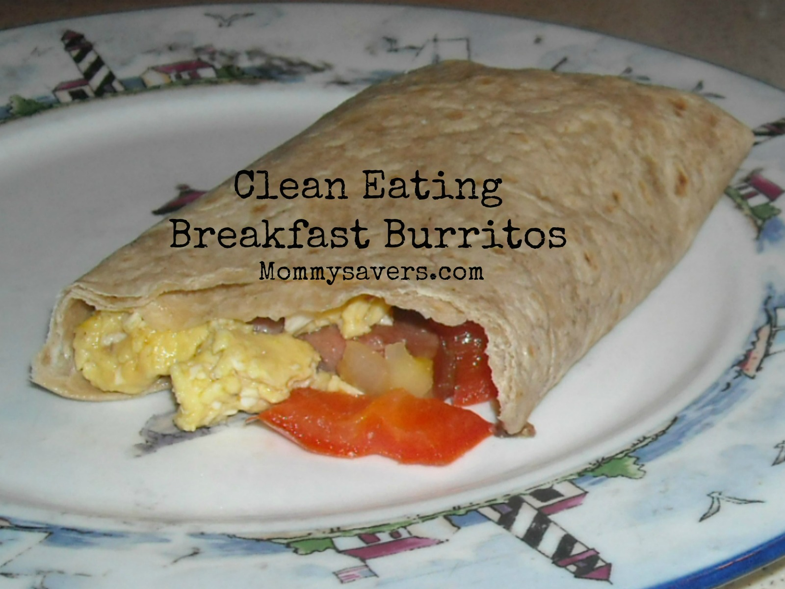 Clean Eating Breakfast Burritos