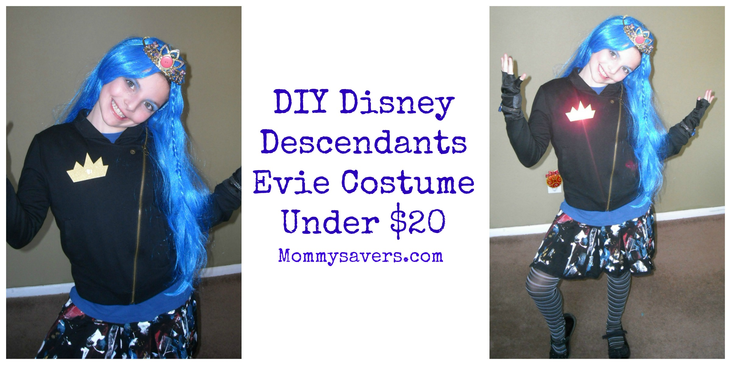 Diy disney descendants evie costume under 20 mommysavers diy disney descendants evie costume solutioingenieria Image collections