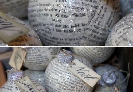 Frugal DIY Holiday Decor DAY FOUR:  Homemade Ornaments