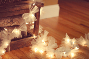 Frugal DIY Holiday Decor DAY THREE: Cool Indoor Uses for Holiday Lights