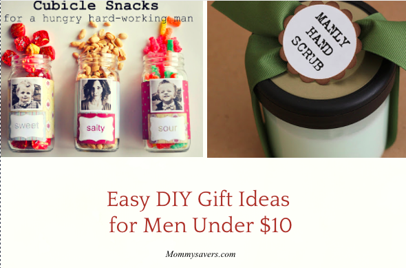 Easy Diy Gift Ideas For Men Under 10 Mommysavers