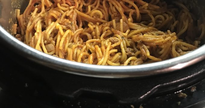Spaghetti in the Instant Pot