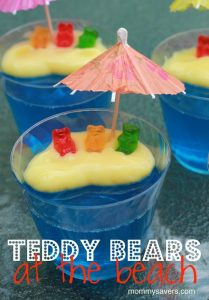 Teddy Bears at the Beach Jell-O Snack