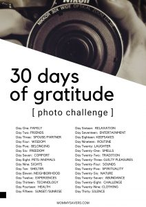30 Days of Gratitude Photo Challenge