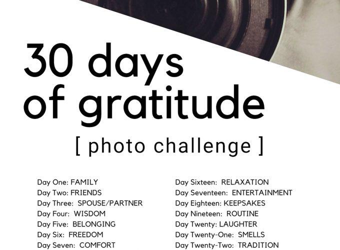 30-Day Gratitude Photo Challenge