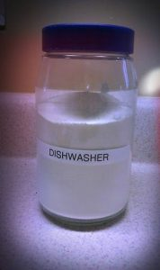Homemade DIY Dishwasher Detergent