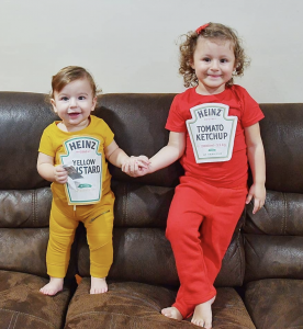 sibling costume ideas ketchup and mustard