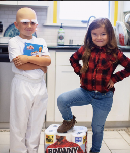 Sibling Costume Ideas - Mr Clean and Brawny