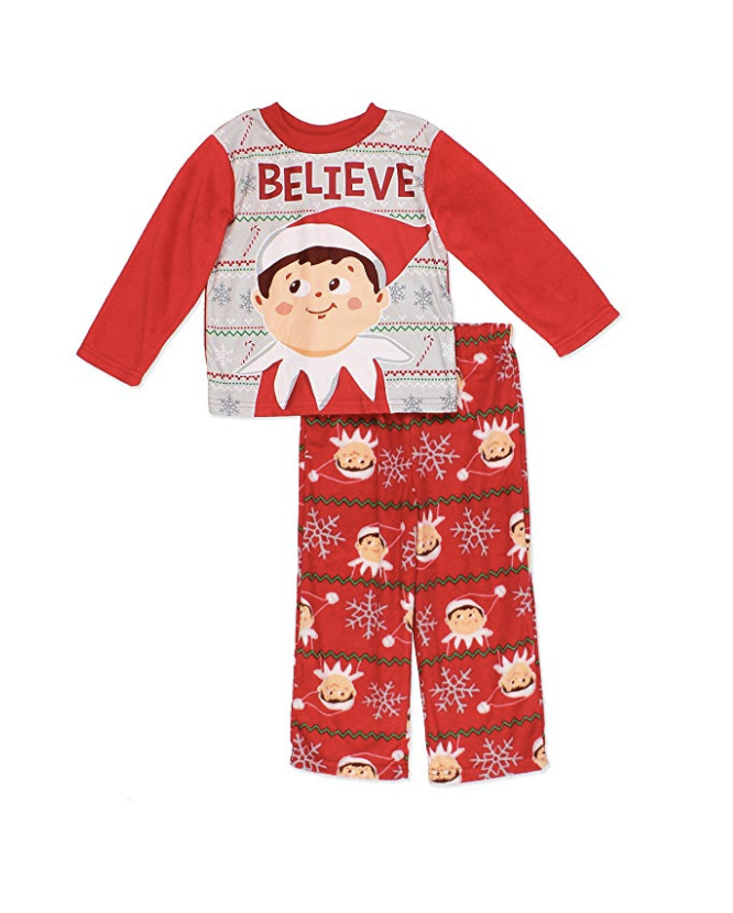 The Elf on the Shelf Footed Pajamas Girls 4-10