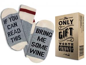 White Elephant Gag Gifts - Wine Socks