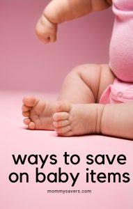 Cheap Baby Stuff: Saving Money