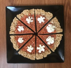 Rice Krispies Treats Pumpkin Pie Dessert
