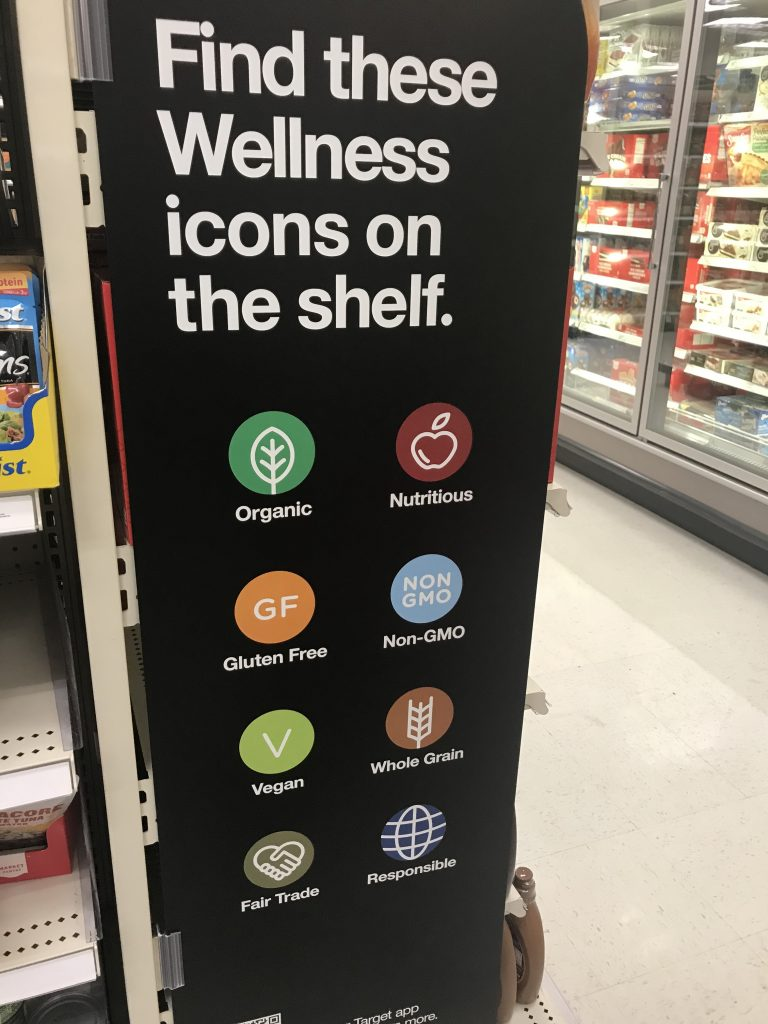 New Wellness Icons in the Target Grocery Aisles