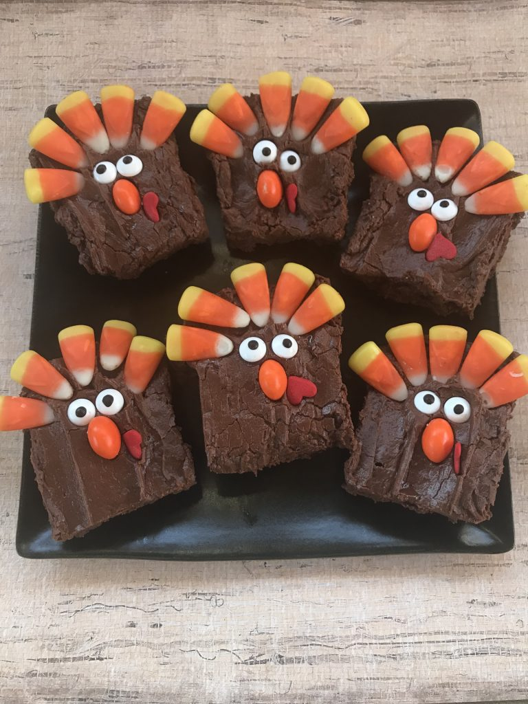 Turkey Brownies for Thanksgiving Dessert