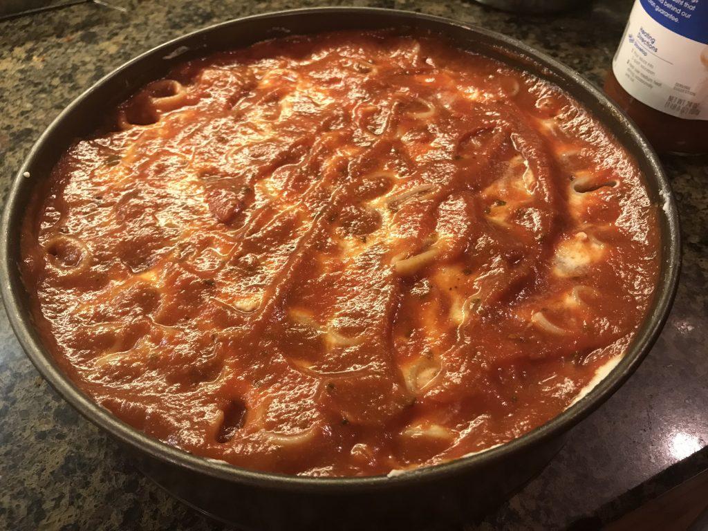 Rigatoni PIzza Pie Recipe