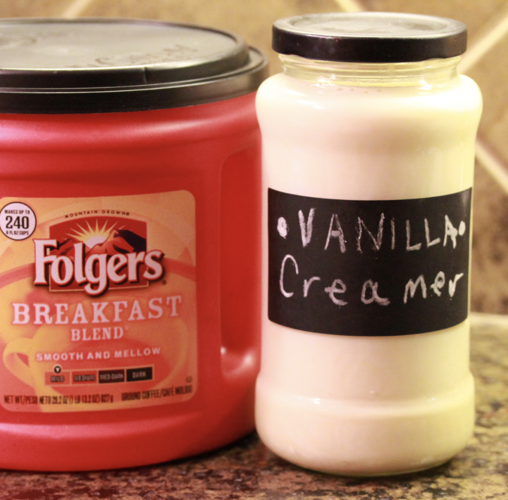 Homemade French Vanilla Creamer - Coffeemate Copycat